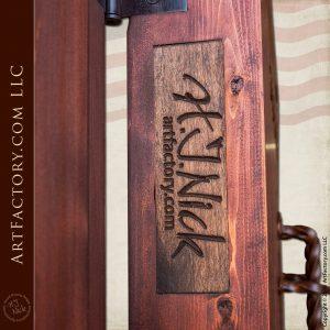 rustic wooden doors by artist H.J. Nick