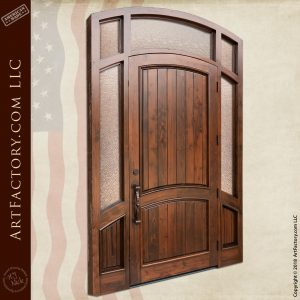Large Arch Top Door with Sidelights