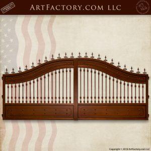 custom mansion entrance gate