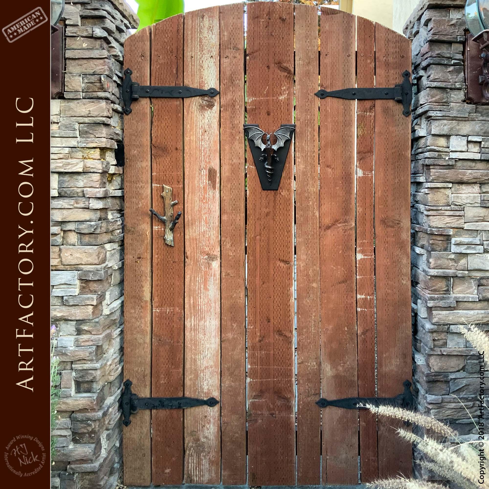 Custom Dragon Door Knocker: Blacksmith Hand Forged Fine Art Hardware