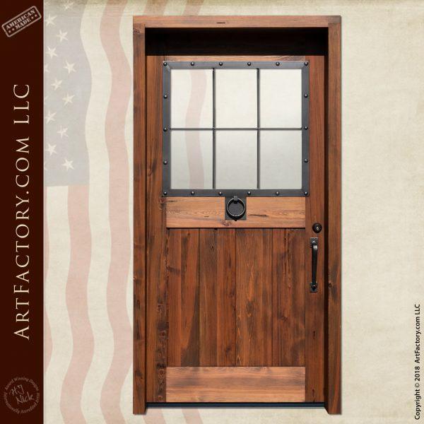 custom colonial wooden door