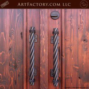 long twist door pulls
