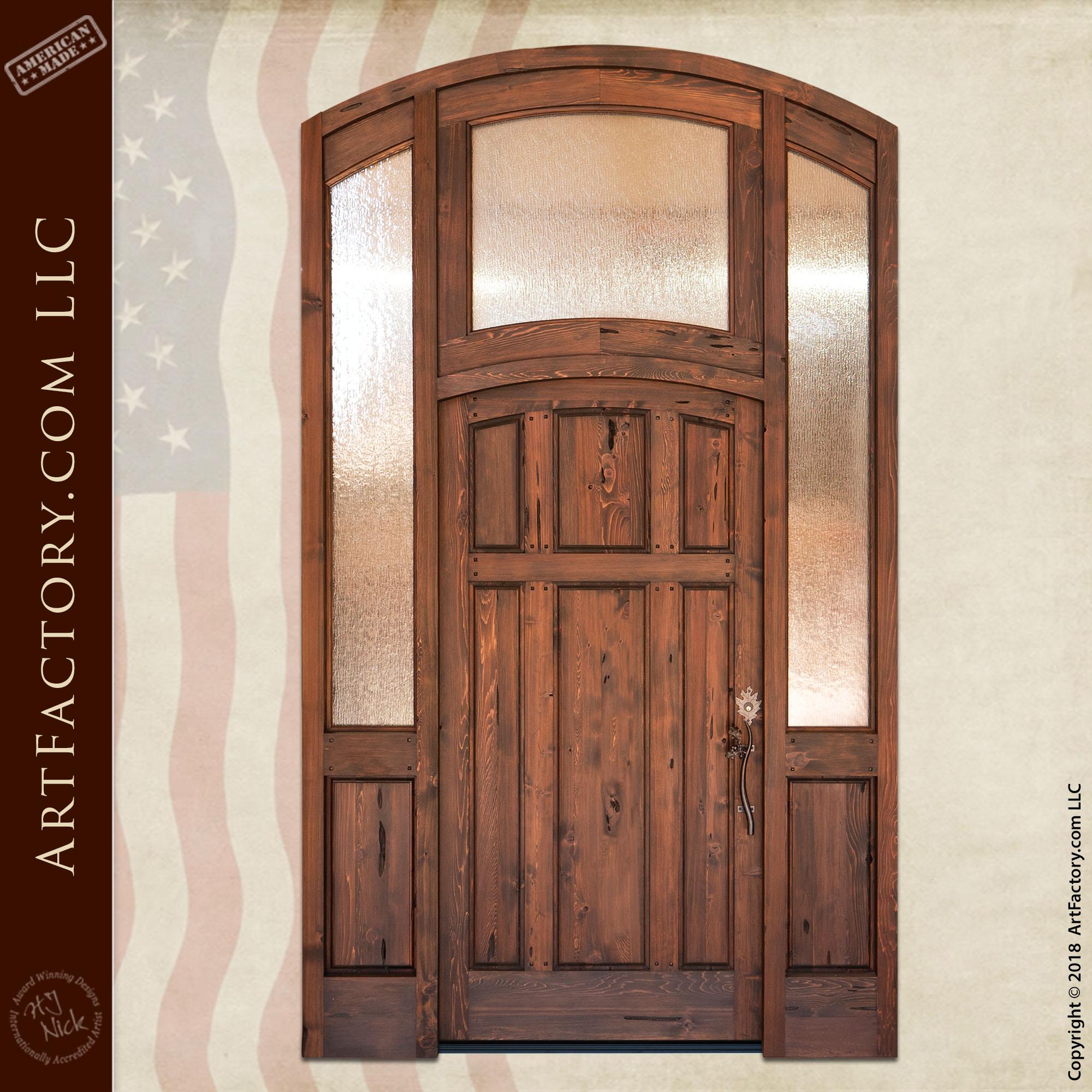 semi arched custom entrance
