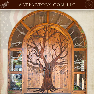 hand carved theme doors