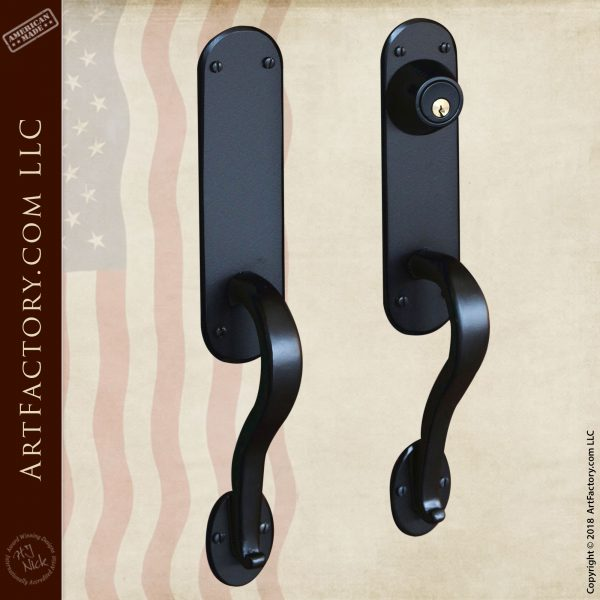 Art Nouveau Door Handles: Custom Fine Art Quality Hardware - HH2494