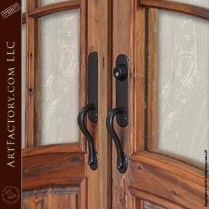 Art Nouveau Custom Iron Door Pulls