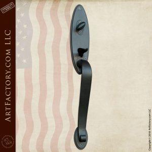 lever style curved door handle