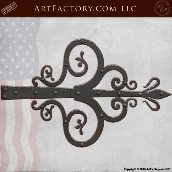 Fine Art Decorative Strap Hinge: Hand Forged By Master Blacksmiths - HS1430