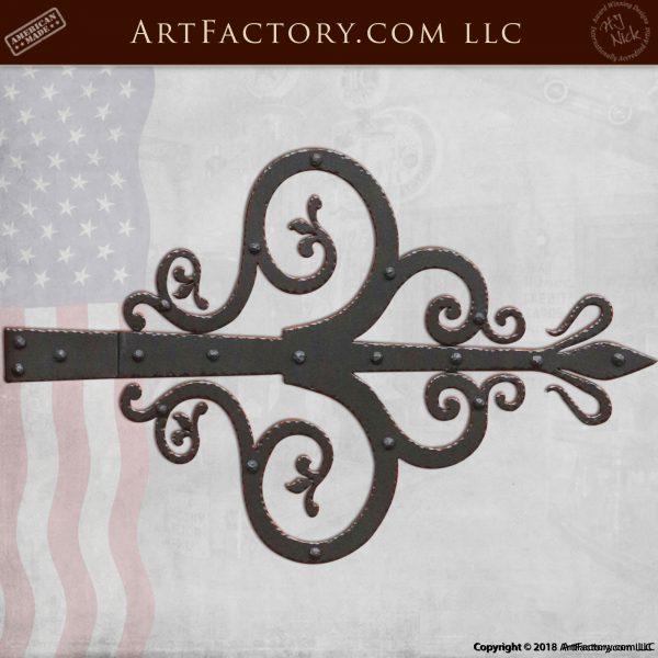 Fine Art Decorative Strap Hinge: Hand Forged By Master Blacksmiths - HS1430