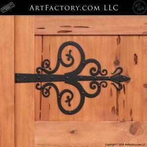 Fine Art Decorative Strap Hinge close up