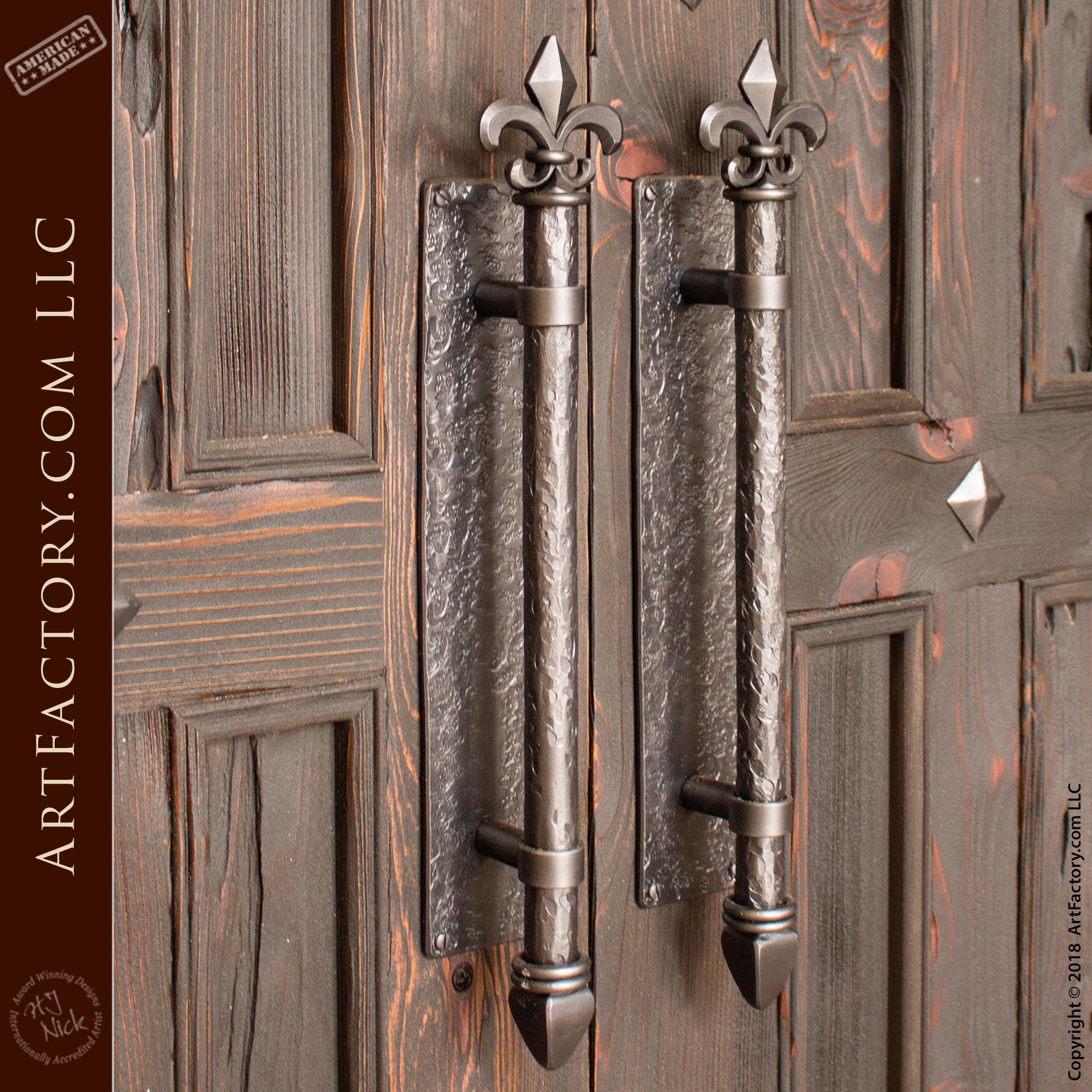 Wrought Iron Fleur de Lis Door Pulls