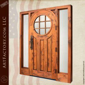Custom Door with Sun Window and Sidelights