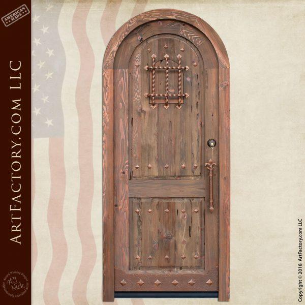 custom medieval arched door