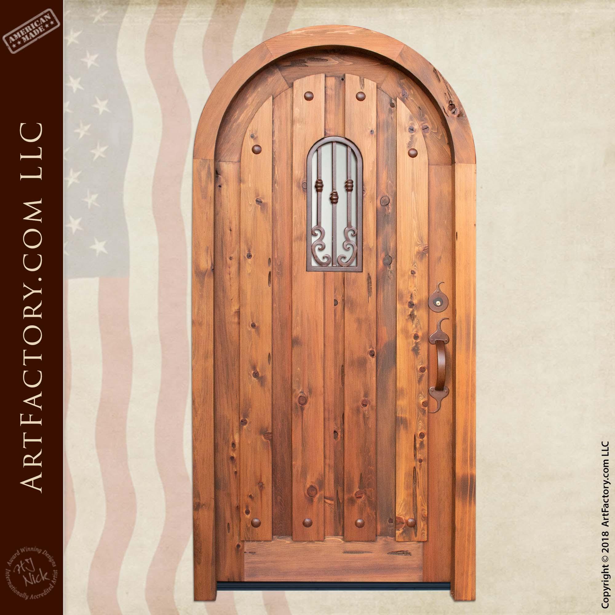 custom arched door