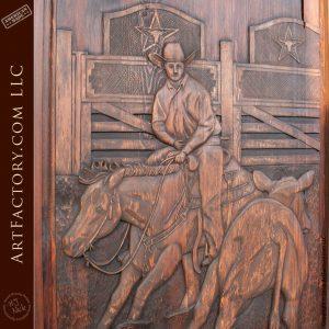 cowboy hand carving