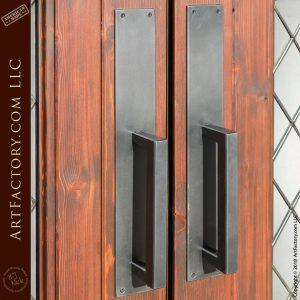 contemporary iron door handles