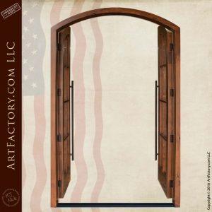 Custom French double doors