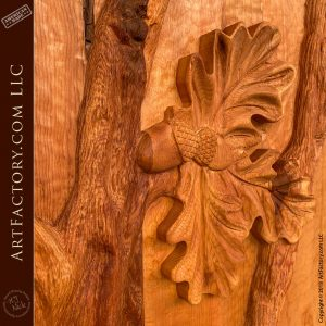 oak leaf hand carvings