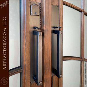 hand hammered custom door handles