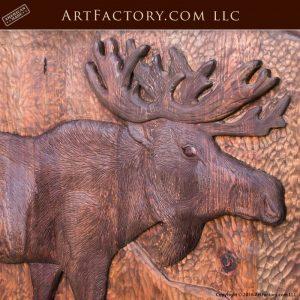 fine art moose wood carving