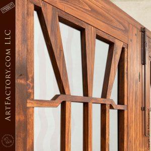 custom Gamble House double doors upper door area