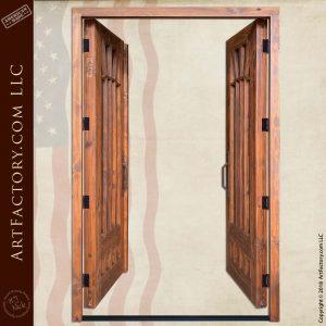 custom Gamble House double doors open position