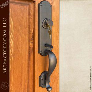 custom iron gate handle