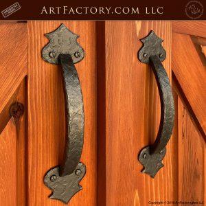 custom iron gate pulls