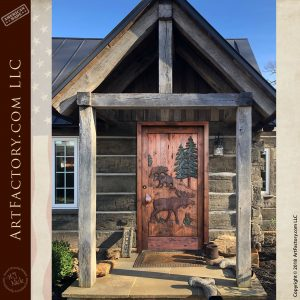 custom moose lodge front door