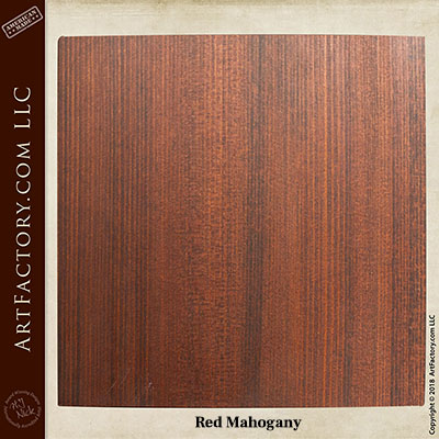 red mahogany sample