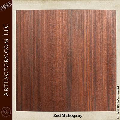 red mahogany sample