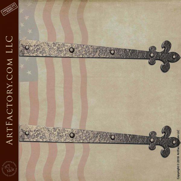 Custom Medieval Strap Hinges: Blacksmith Hand Forged Iron Hardware