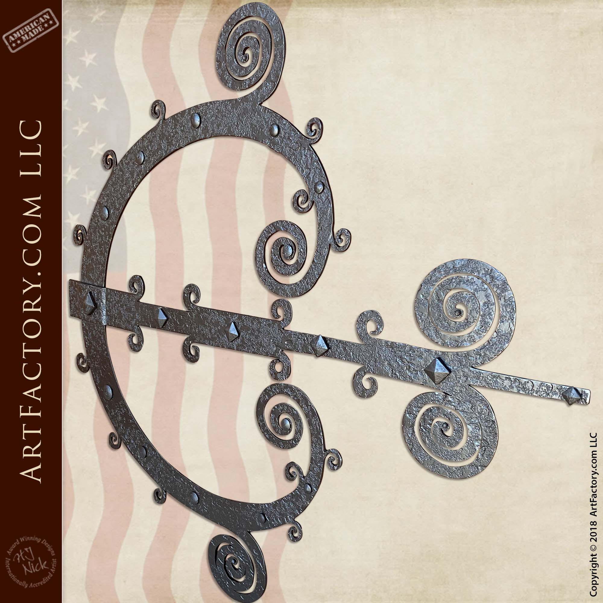 Custom Ornamental Strap Hinges: Master Blacksmith Hand Forged