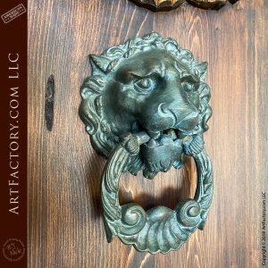 lions head iron door knocker