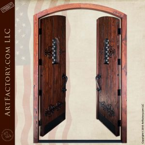 medieval fortress double doors