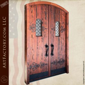 medieval fortress double doors front