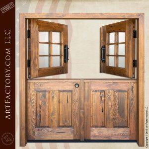 Custom Double Dutch Doors top open