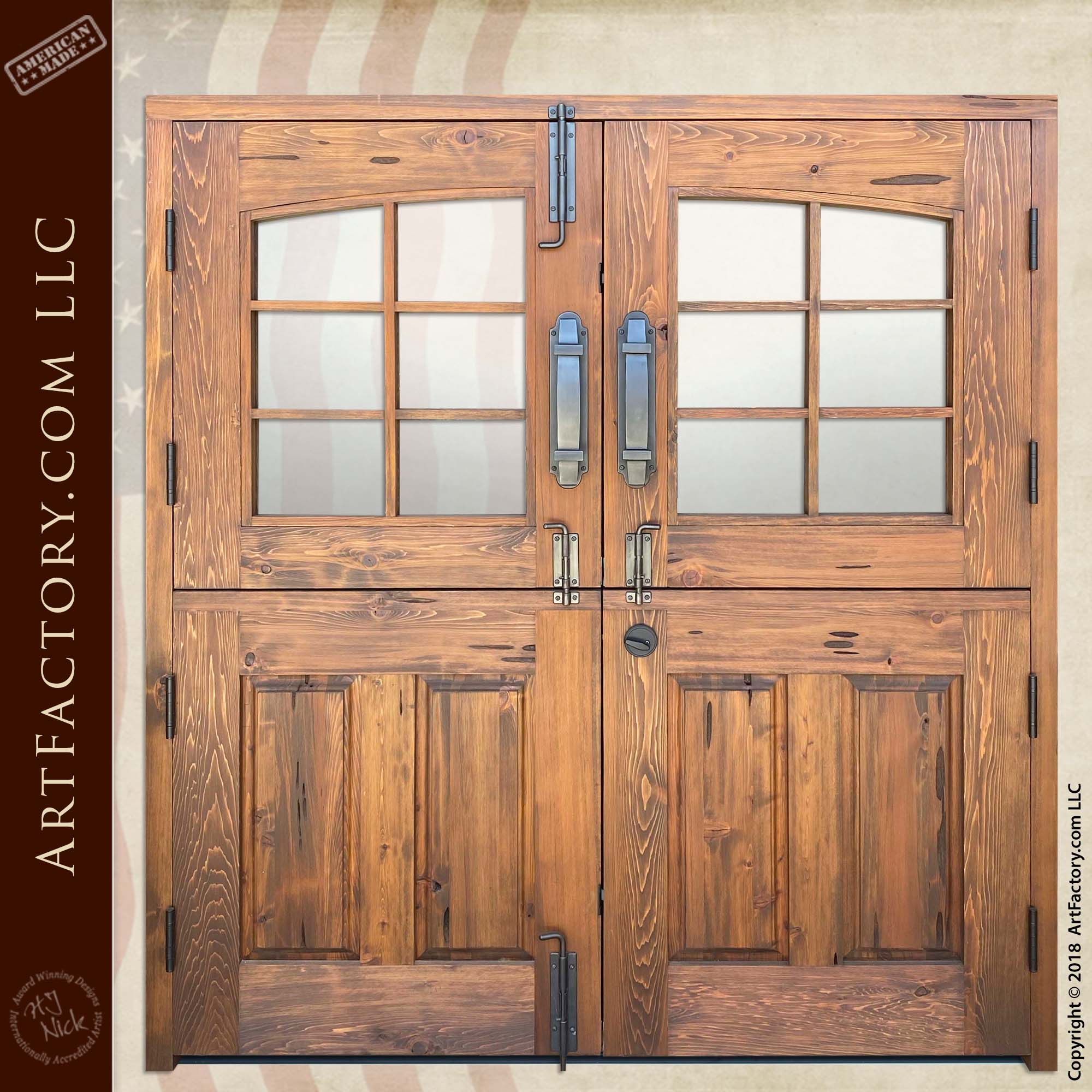 Custom Double Dutch Doors back