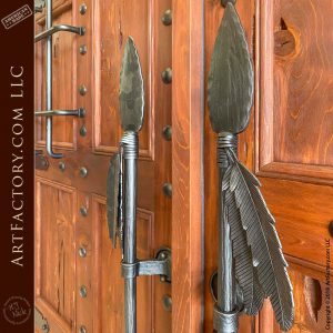 Spear Door Pulls close up