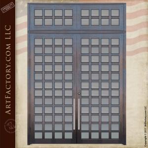 48 Glass Panel Double Doors