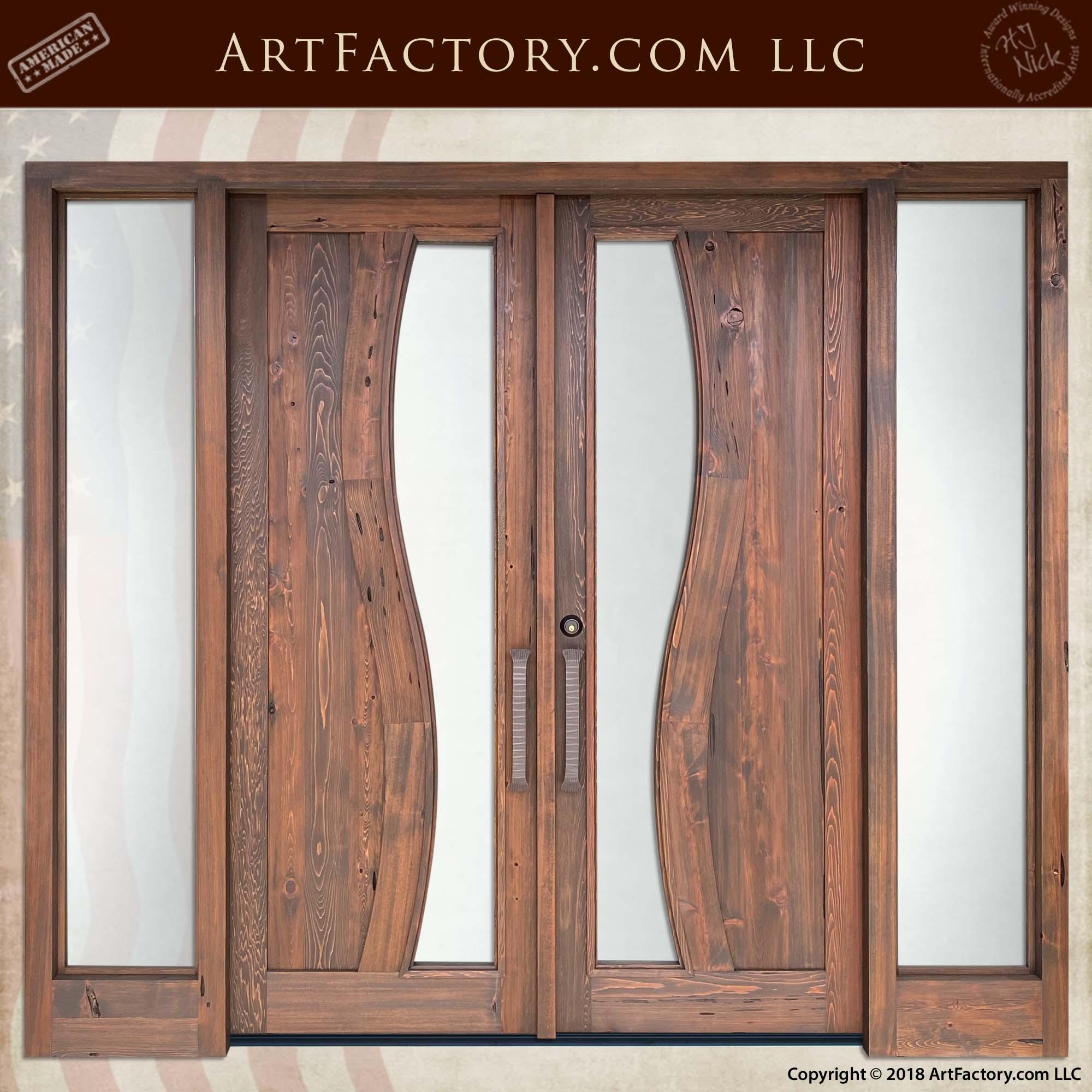 Contemporary Art Nouveau Double Doors