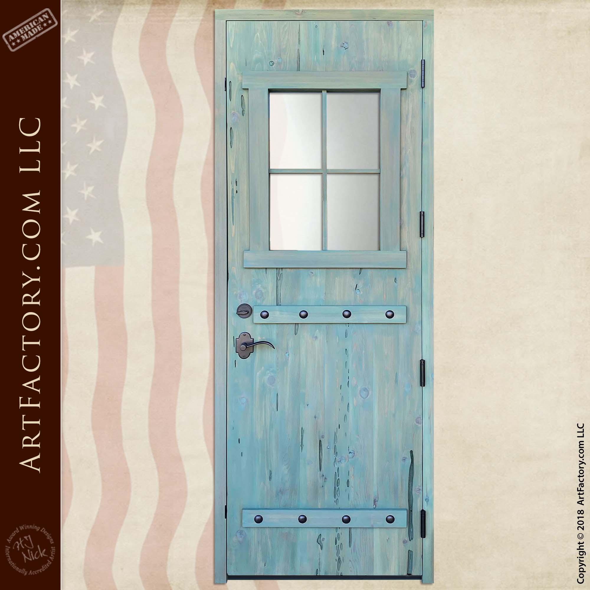 custom farmhouse door back