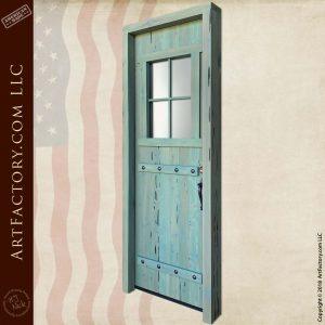 custom farmhouse door angle front