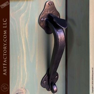hard forged wrought iron door handle