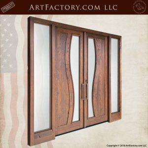 Contemporary Art Nouveau Double Doors angle