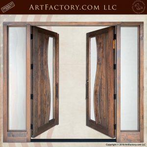Contemporary Art Nouveau Double Doors open position