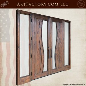 Contemporary Art Nouveau Double Doors back angle
