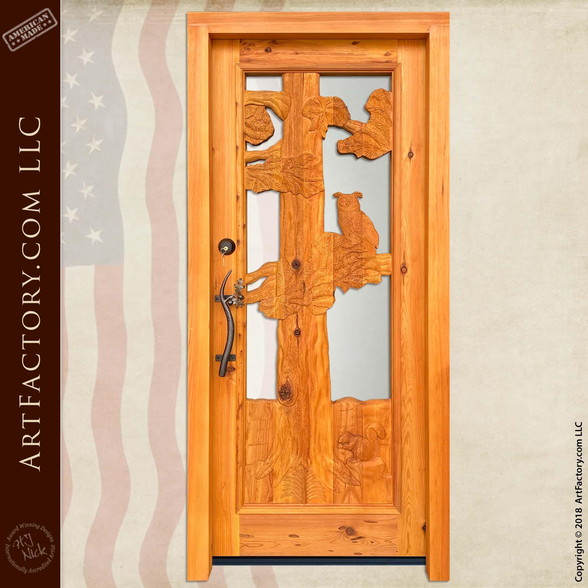 log cabin entry door