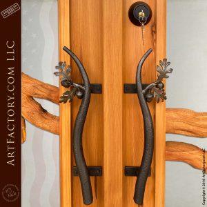 oak branch door pull