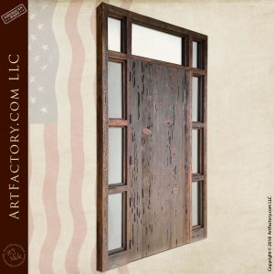 Rustic Planked Castle Door: With Full Surround Sidelights